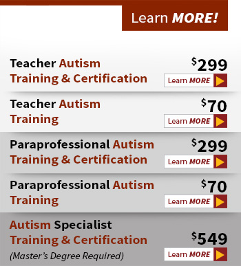 autism training and certification online