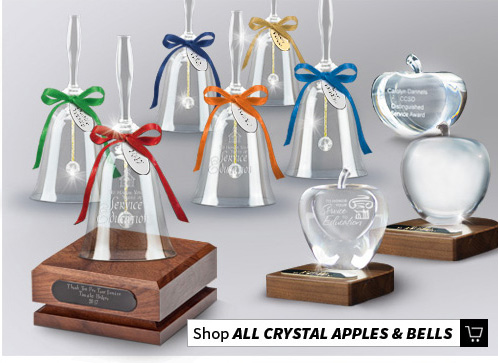 Crystal Apple and Bell Awards and Gifts