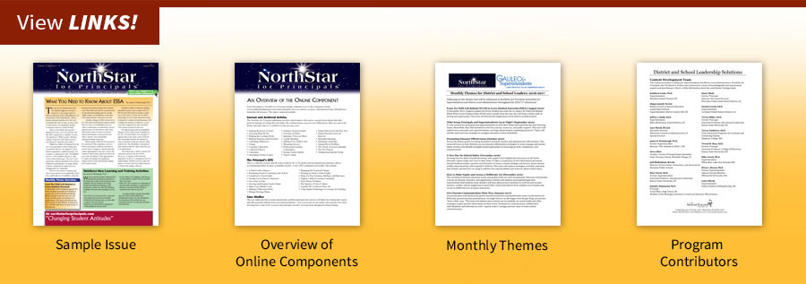 View Helpful Links for NorthStar for Principals