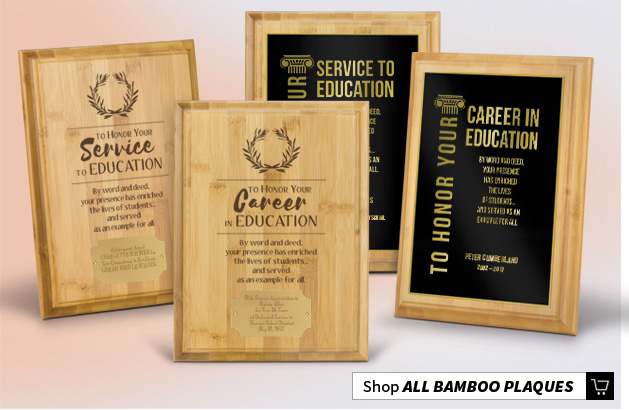Bamboo Recognition Plaques