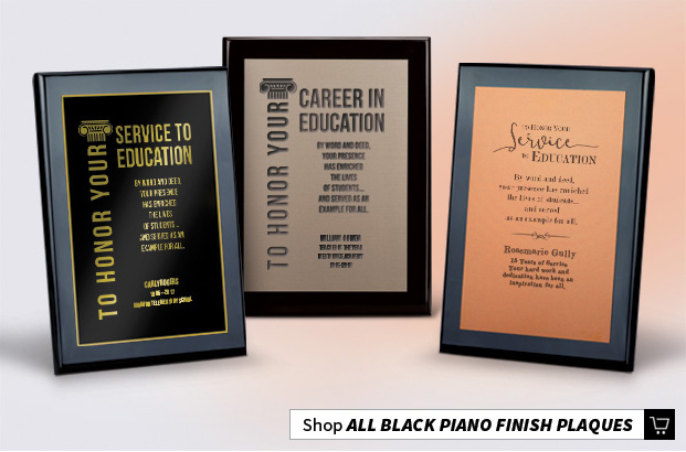 Black Piano Finish Recognition Plaques