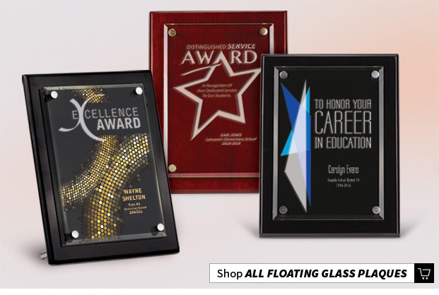 Floating Glass Recognition Plaques