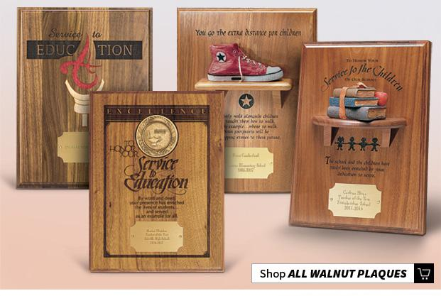 Walnut Recognition Plaques