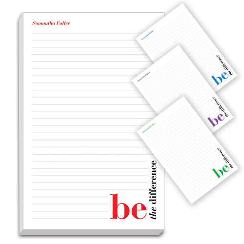 f7d3d36c2bc3 Lg. Personalized Notepads – Be The Difference