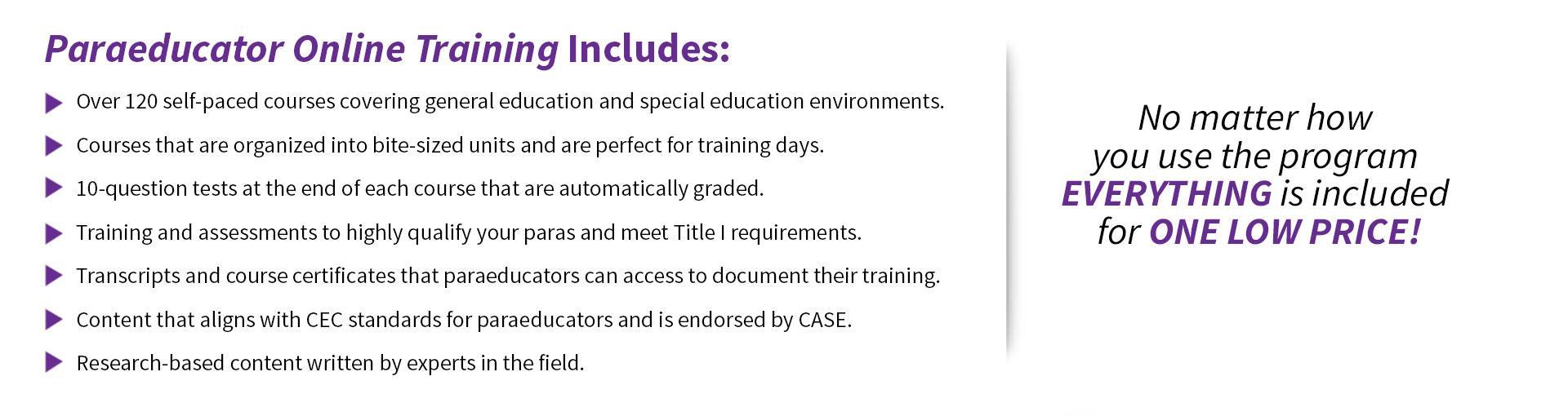 Paraeducator Online Training MT