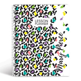 animal print lesson planner cover