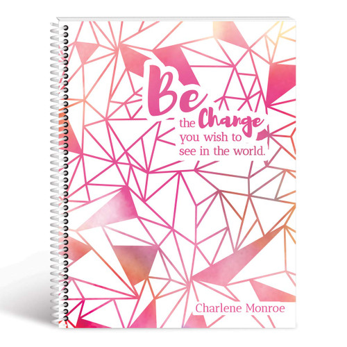 be the change geometric cover pink