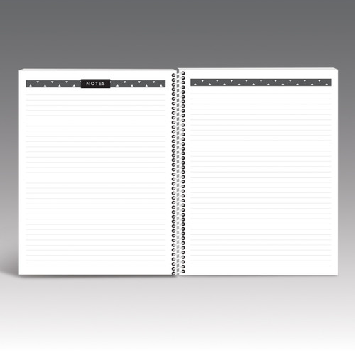 lined note pages