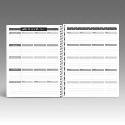 one week of lesson plan pages