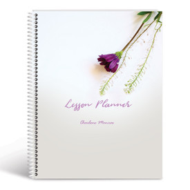flower lesson planner cover