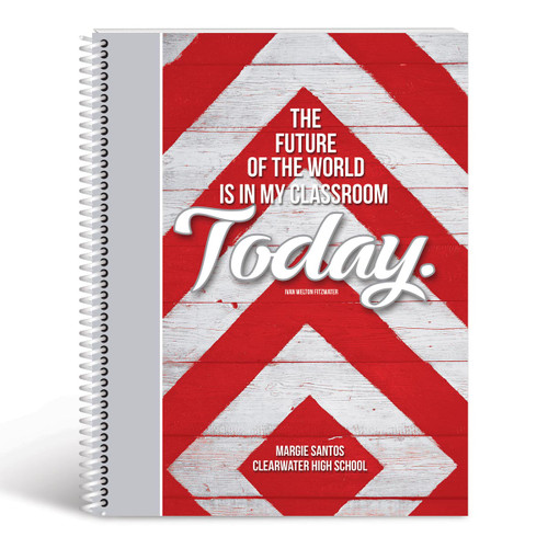future lesson planner cover red