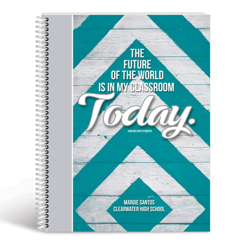 future lesson planner cover teal