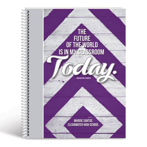 future lesson planner cover purple