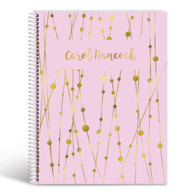 lines and dots lesson planner cover