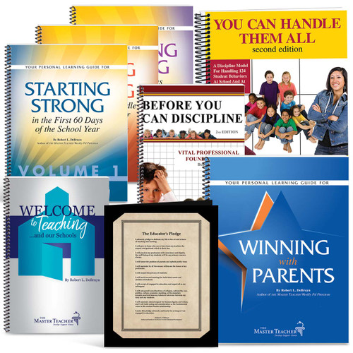 covers of books in new teacher book set
