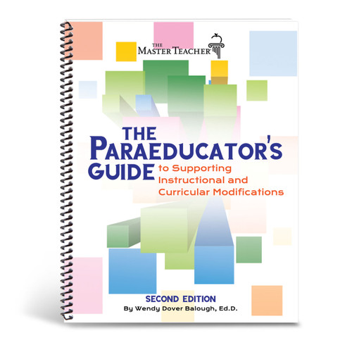 cover of paraeducator's guide to instructional accommodations and modifications book