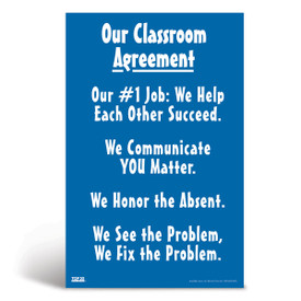 Social-emotional learning poster: Our classroom agreement