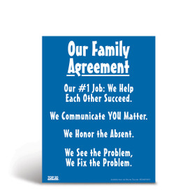 Social-emotional learning poster: Our family agreement