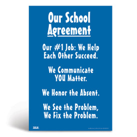 Social-emotional learning poster: Our school agreement