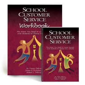 cover of school customer service book and workbook