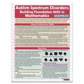 autism spectrum disorder and mathematics reference guide