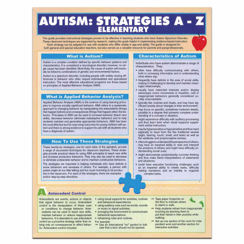 elementary school autism strategies reference guide
