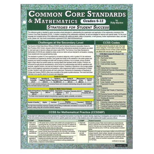 common core standards and math grades 6-12