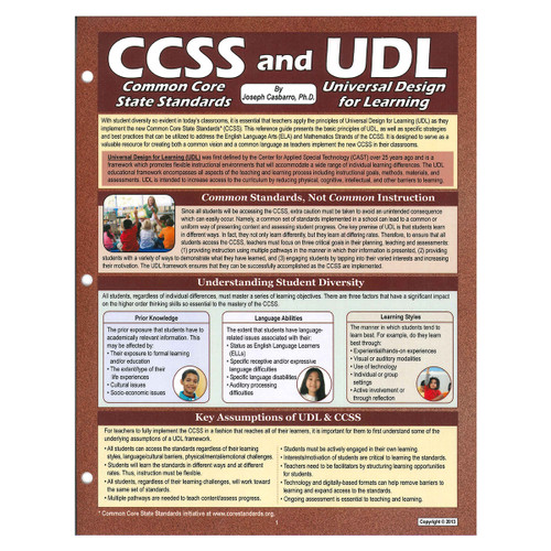common core standards and universal design for learning reference guide
