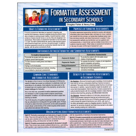 formative assessment in secondary schools reference guide