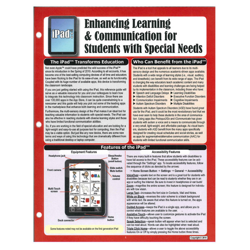iPad: enhancing learning and communication for students with special needs