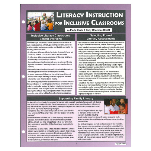 literacy instruction for inclusive classrooms reference guide