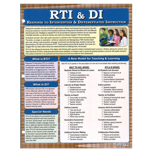 response to intervention and differentiated instruction reference guide