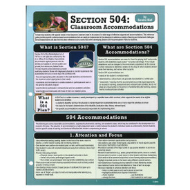 section 504: classroom accommodations reference guide