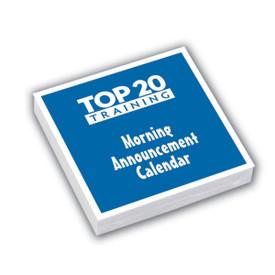 Top 20 Training morning announcement calendar