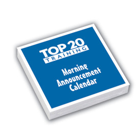 Top 20 Training morning announcement calendar