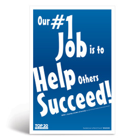 Social-emotional learning poster: Our number one job is to help others succeed