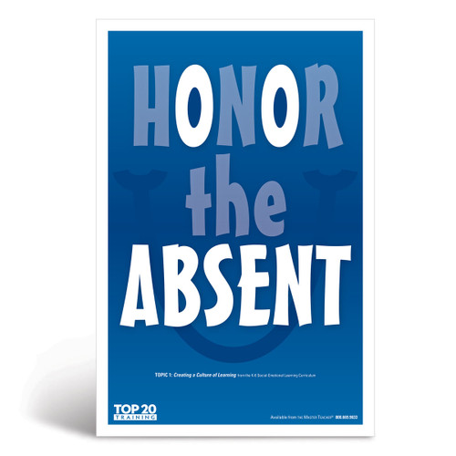 Social-emotional learning poster: Honor the absent