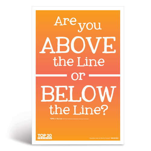 Social-emotional learning poster: Are you above the line or below the line?