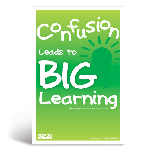 Social-emotional learning poster: Confusion leads to big learning