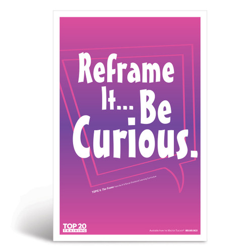 Social-emotional learning poster: Reframe it...be curious