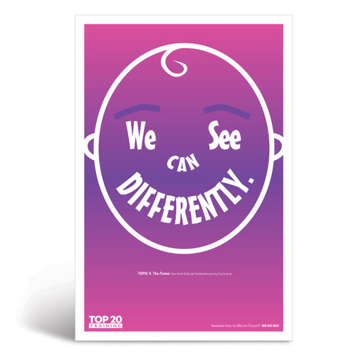 Social-emotional learning poster: We can see differently