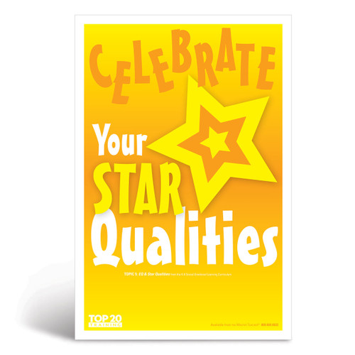 Social-emotional learning poster: Celebrate your star qualities