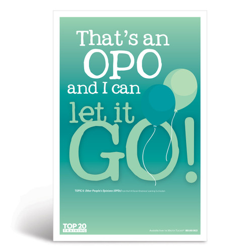 Social-emotional learning poster: That's an OPO and I can let it go!