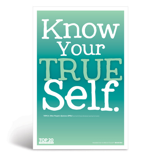 Social-emotional learning poster: Know your true self