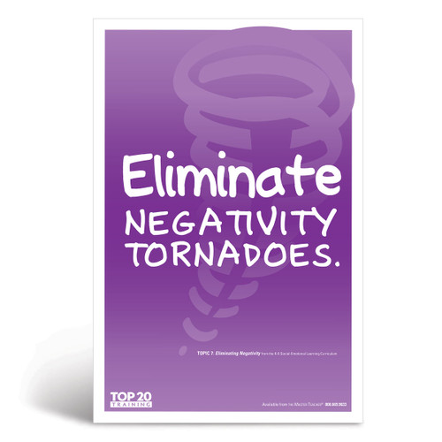 Social-emotional learning poster: Eliminate negativity tornadoes