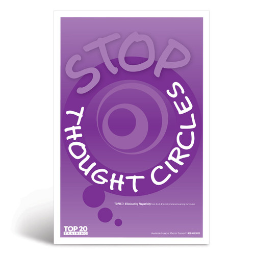Social-emotional learning poster: Stop thought circles