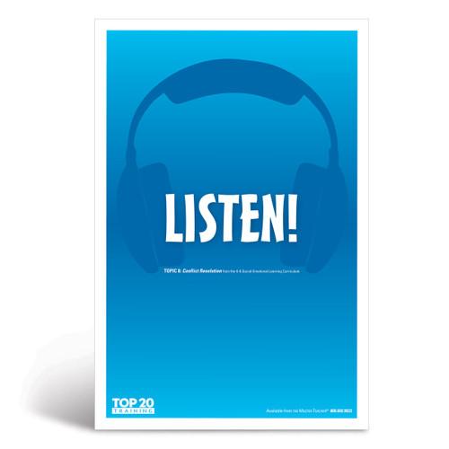 Social-emotional learning poster: Listen!