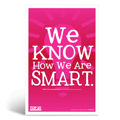Social-emotional learning poster: We know how we are smart