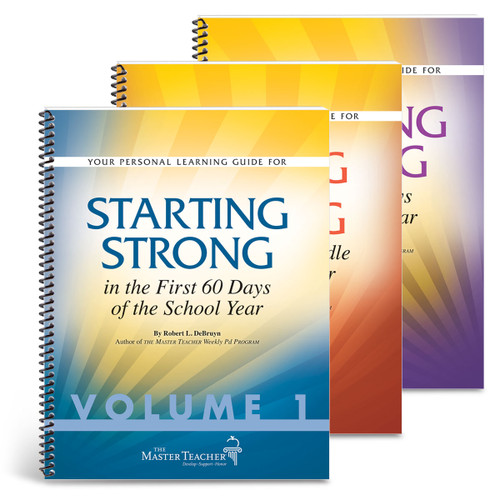 covers of starting, keeping, and staying strong book set