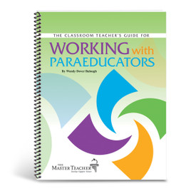 cover of working with paraeducators book